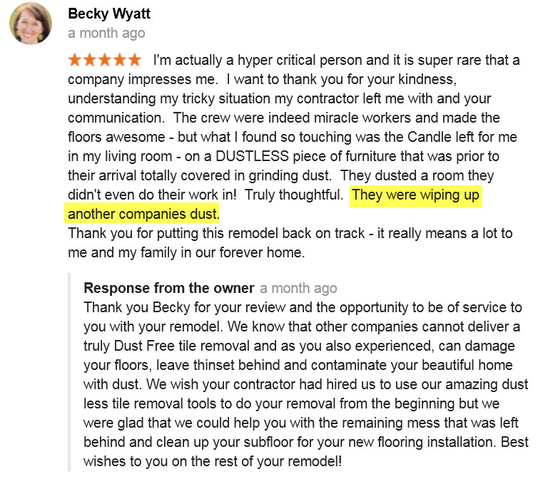 Customer Review - Google - Arizona Home Floors