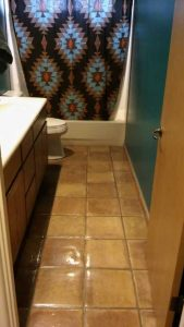 before bathroom tile removal